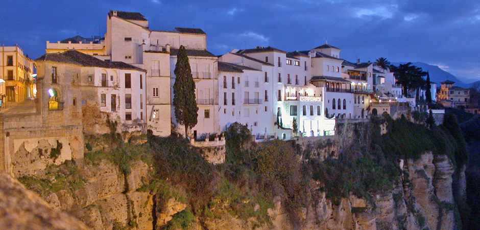 New bridge Ronda by night